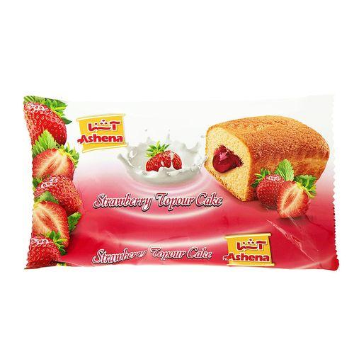 کیک توپر توت فرنگی آشنا مقدار 35 گرم
