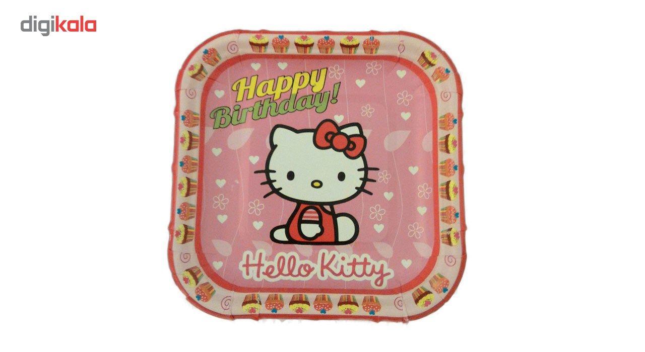 پیش دستی و لیوان یکبار مصرف مدل hello kitty مجموعه 40 عددی main 1 1