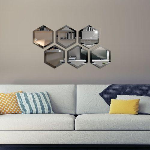 آینه دکوراتیو سایان هوم مدل شش ضلعی