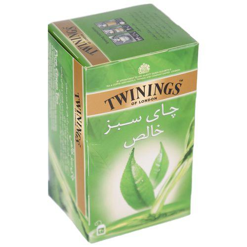 چای سبز کیسه ای توینینگز بسته 20 عددی