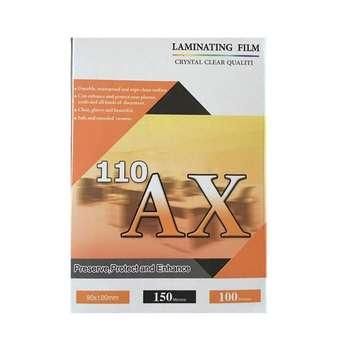 طلق پرس آ ایکس 110 براق مدل 150 میکرون سایز 9X12 بسته 100 عددی