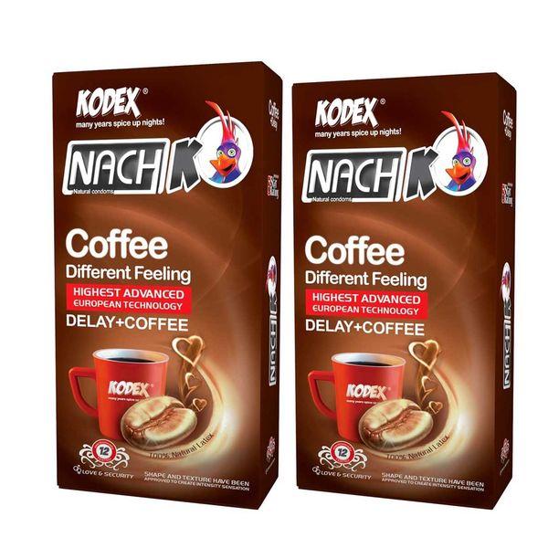 کاندوم کدکس مدل cofee دو بسته 12 عددی