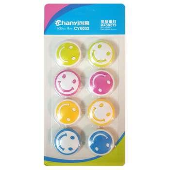 گیره آهنربایی چانی مدل لبخند -CY6032 بسته 8 عددی