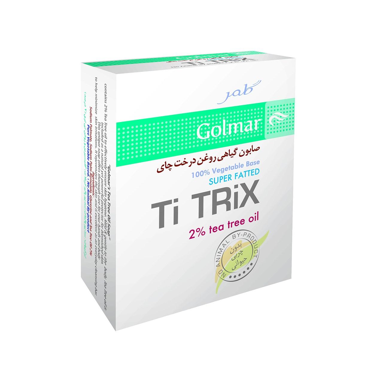 قیمت صابون ارگانیک گلمر روغن درخت چای مدل ti tirix مقدار 100 گرم