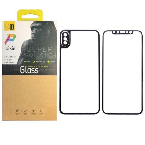 محافظ صفحه نمایش شیشه ای پشت و جلوی  پیکسی مدل Titanium مناسب برای گوشی اپل آیفون X