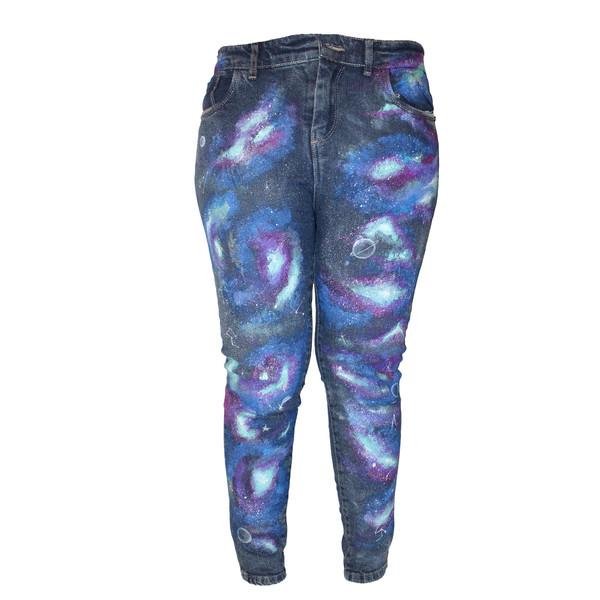 شلوار جین زنانه مدل کهکشان