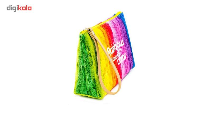 کیف لوازم آرایش هیدورا طرح رنگین کمان