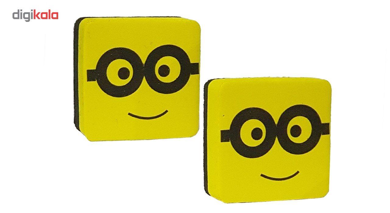 تخته پاک کن وایت برد مغناطیسی مدل عینک - بسته دو عددی main 1 1