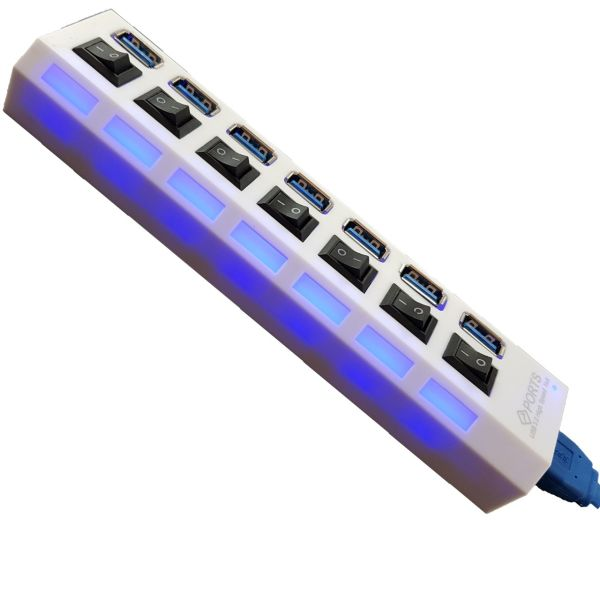 USB 3.0 هاب 7 پورت روس مدل Hi Speed