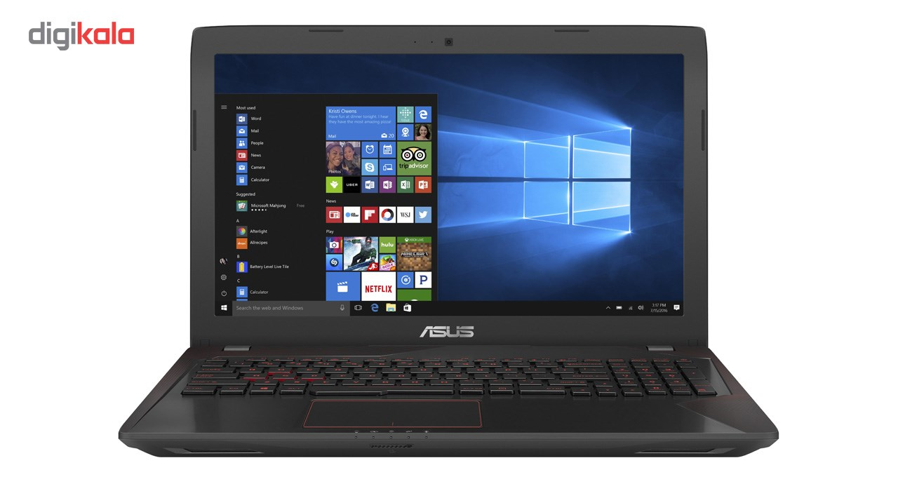 لپ تاپ 15 اینچی ایسوس مدل FX553VE - B