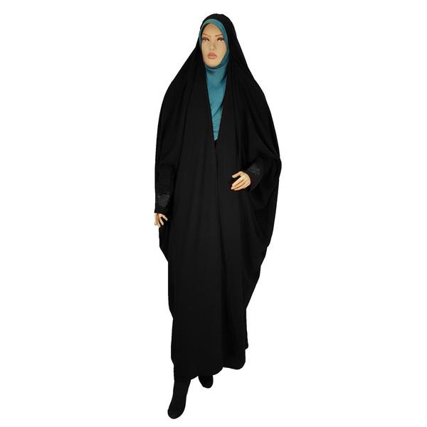 چادر صدفی حریرالاسود طرح دار  حجاب حدیث کد 116