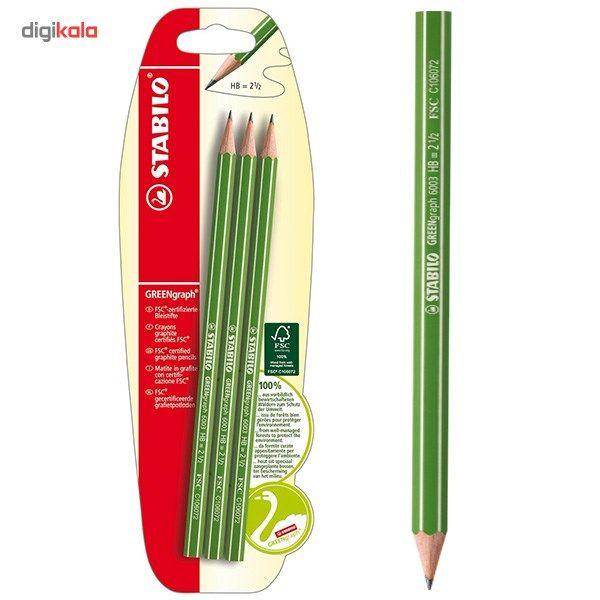 مداد استابیلو گرین گراف 6003 بسته 3 عددی