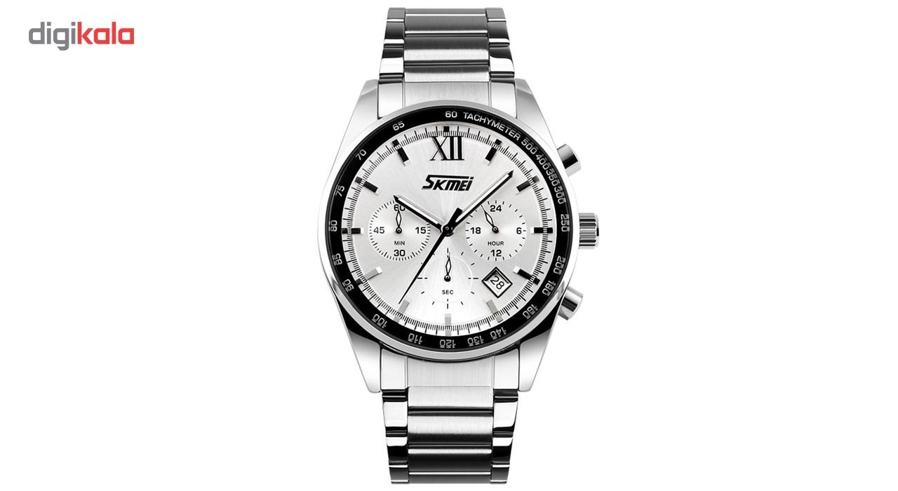 ساعت مچی عقربه ای مردانه اسکمی مدل S9096/White