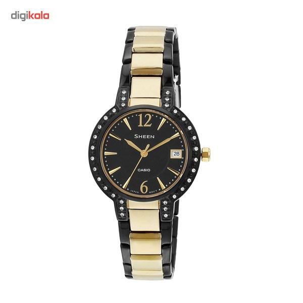 ساعت مچی عقربه ای کاسیو سری شین مدل SHE-4805BSG-1AUDR مناسب برای بانوان