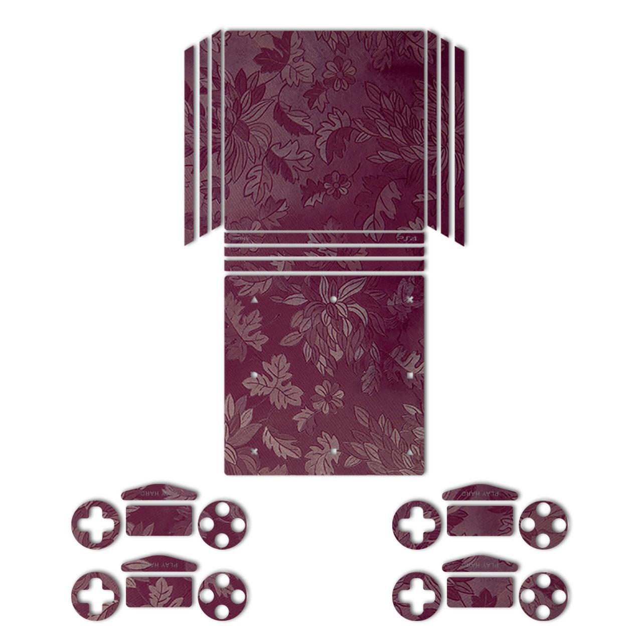 برچسب ماهوت مدلRed Wild-flower Texture مناسب برای کنسول بازیPS4 Pro