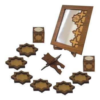 مجموعه ظروف هفت سین چوبی مارکت لند
