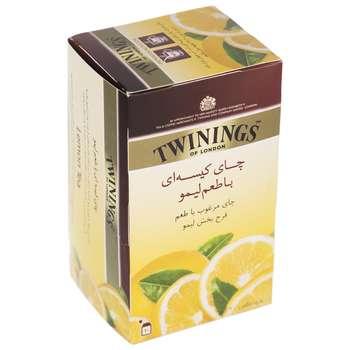 چای سیاه کیسه ای توینینگز با طعم لیمو بسته 20 عددی