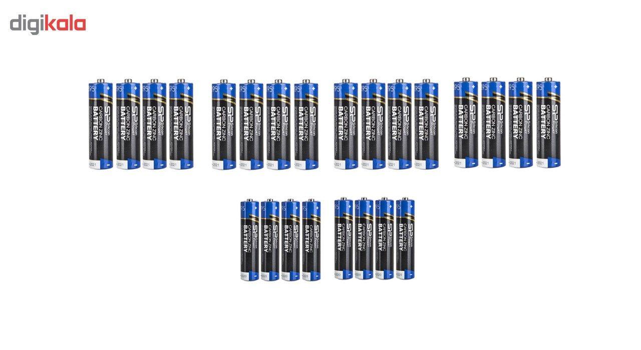 باتری قلمی و نیم قلمی سیلیکون پاور مدل Carbon Zinc بسته 24 عددی main 1 1