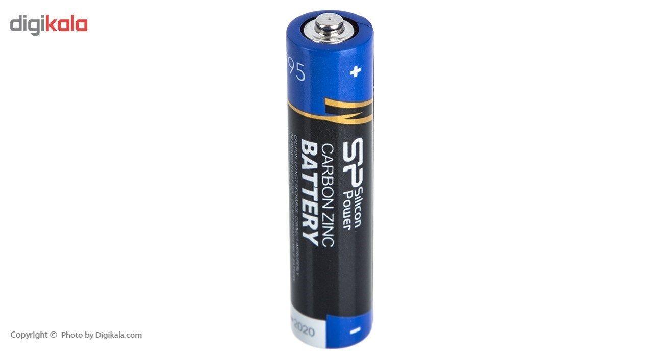 باتری قلمی و نیم قلمی سیلیکون پاور مدل Carbon Zinc بسته 24 عددی main 1 2
