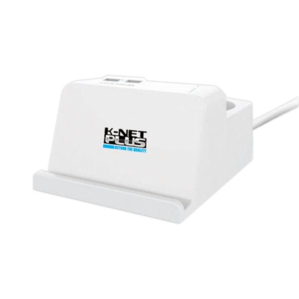 چند راهی و محافظ برق کی نت پلاس مدل KP-PS04-USB-SPD