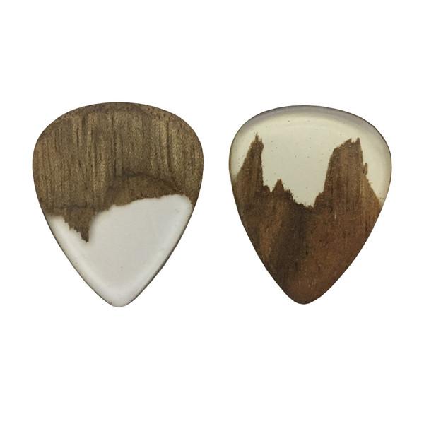 پیک چوبی  اپکسی رزین و گردو ترکیبی 4 گیتار چوپیک   بسته 2 عددی