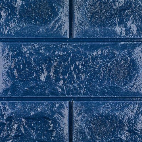 دیوارپوش فومی طرح آجر  آبی کد FB  اندازه 71x77