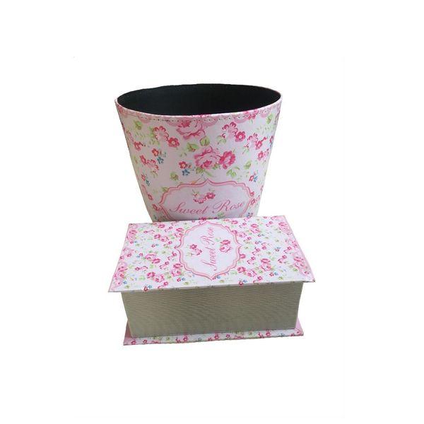 ست سطل و جا دستمال کاغذی خانه سفید کد 02