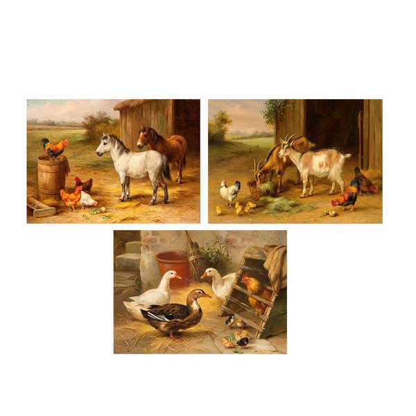 تابلو 3  تکه چاپ سی طرح معروف ترین نقاشی های جهان کد FP138