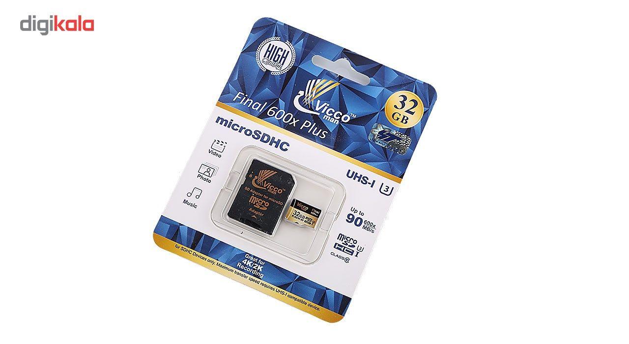 کارت حافظه microSDHC ویکو من مدل Extre600X کلاس 10 استاندارد UHS-I U3 سرعت 90MBps ظرفیت 32گیگابایت همراه با آداپتور SD main 1 1