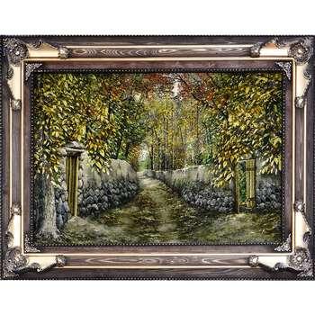 تابلوفرش دستباف آنافرش منظره کوچه باغ کد 11192