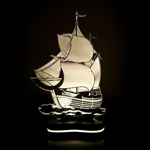 چراغ خواب سه بعدی گالری دکوماس طرح کشتی کد DMS147