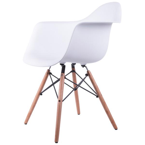 صندلی کروماتیک مدل White Armchair Wood Legs