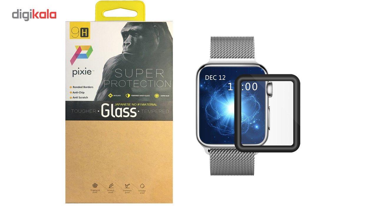 محافظ صفحه نمایش تمام چسب شیشه ای پیکسی  مدل 3D  مناسب اپل واچ سایز 38 میلی متر main 1 1