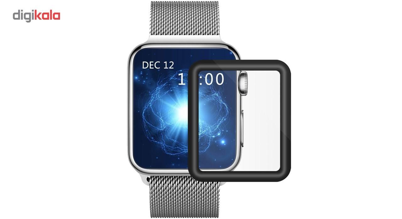 محافظ صفحه نمایش تمام چسب شیشه ای پیکسی  مدل 3D  مناسب اپل واچ سایز 38 میلی متر main 1 2
