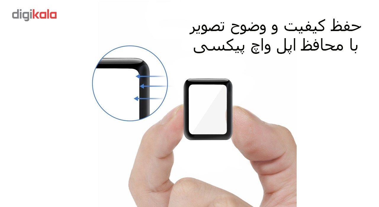 محافظ صفحه نمایش تمام چسب شیشه ای پیکسی  مدل 3D  مناسب اپل واچ سایز 38 میلی متر main 1 7
