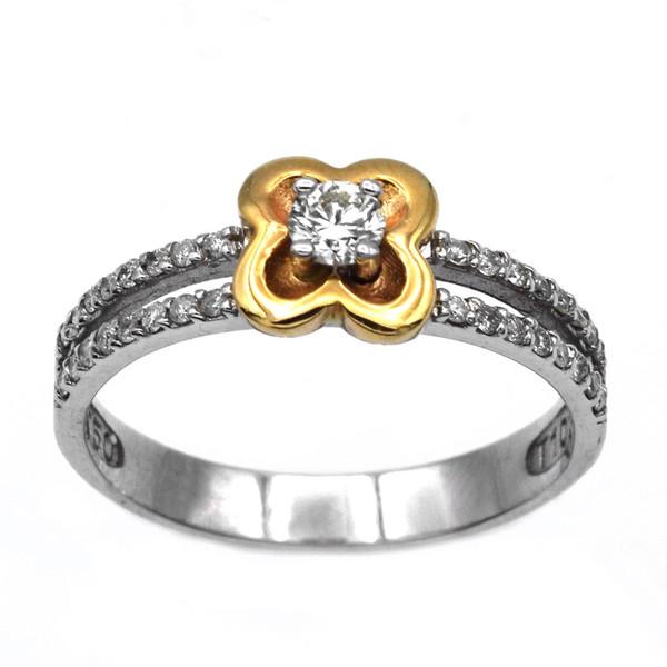 انگشتر طلا 18 عیار جواهری سون مدل 1718