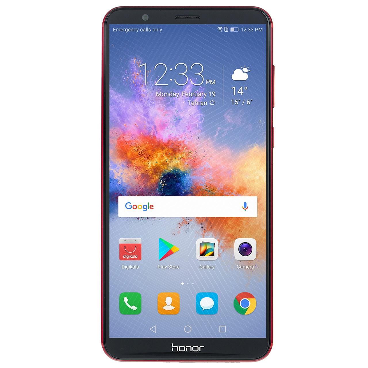گوشی موبایل هوآوی مدل Honor 7X BND-L21 قرمز دو سیمکارت