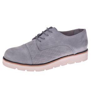 کفش چرم زنانه پانیسا مدل 712Grey