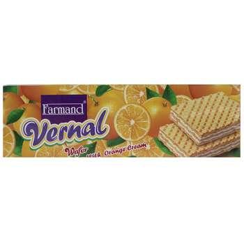 ویفر با کرم پرتقال فرمند مقدار 80 گرمی