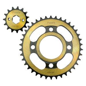دنده زنجیر موتورسیکلت پازل کد SSP122570G مناسب برای هندا مجموعه 2 عددی