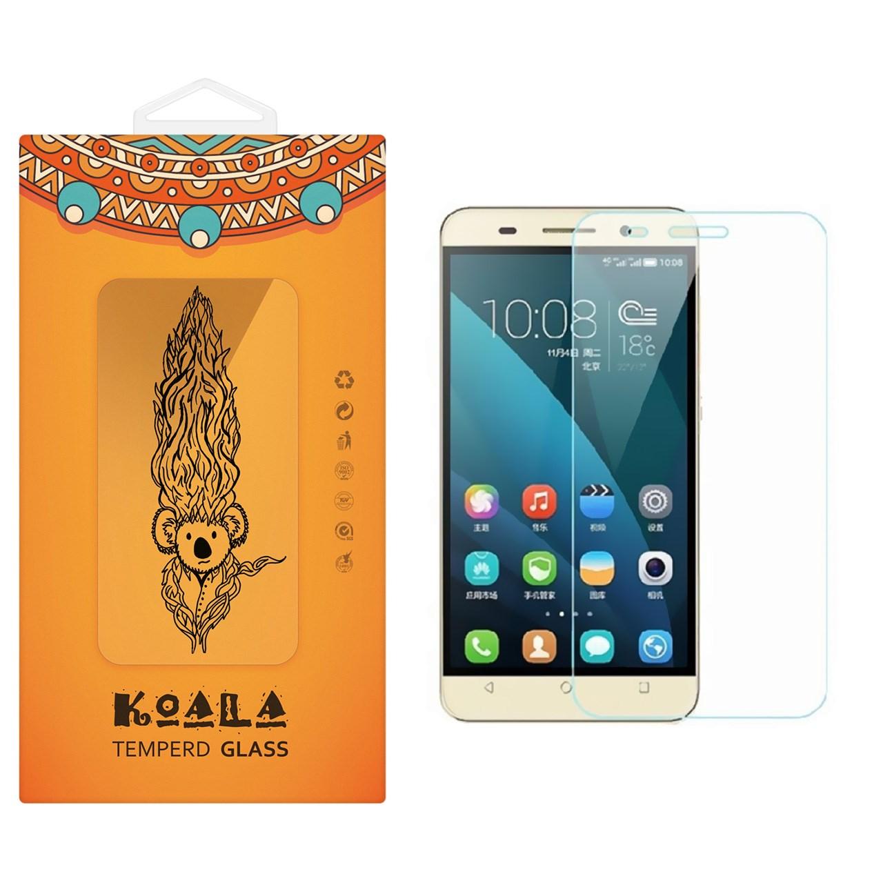 محافظ صفحه نمایش شیشه ای کوالا مدل Tempered مناسب برای گوشی موبایل هوآوی Honor 4C