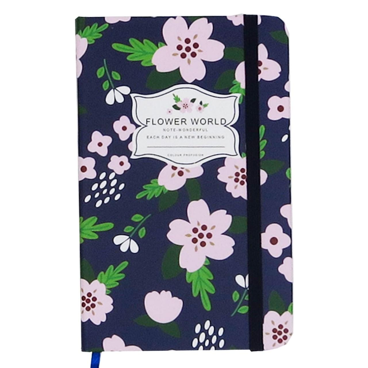 دفتر یادداشت کوچک فانزی مدل Flowery World