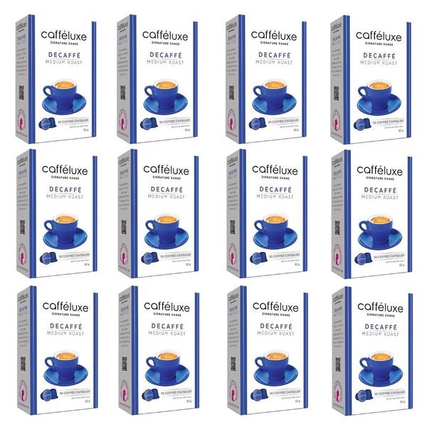 کپسول قهوه نسپرسو کافه لوکس  مدل Decaffe Medium Roast مجموعه 12 جعبه