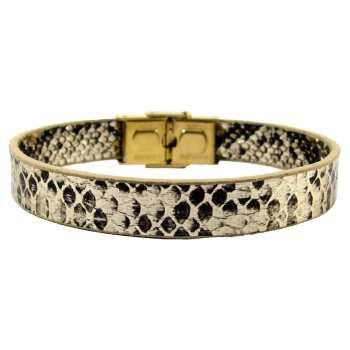 دستبند چرم حامد گالری طرح پوست مار مدل bl4023