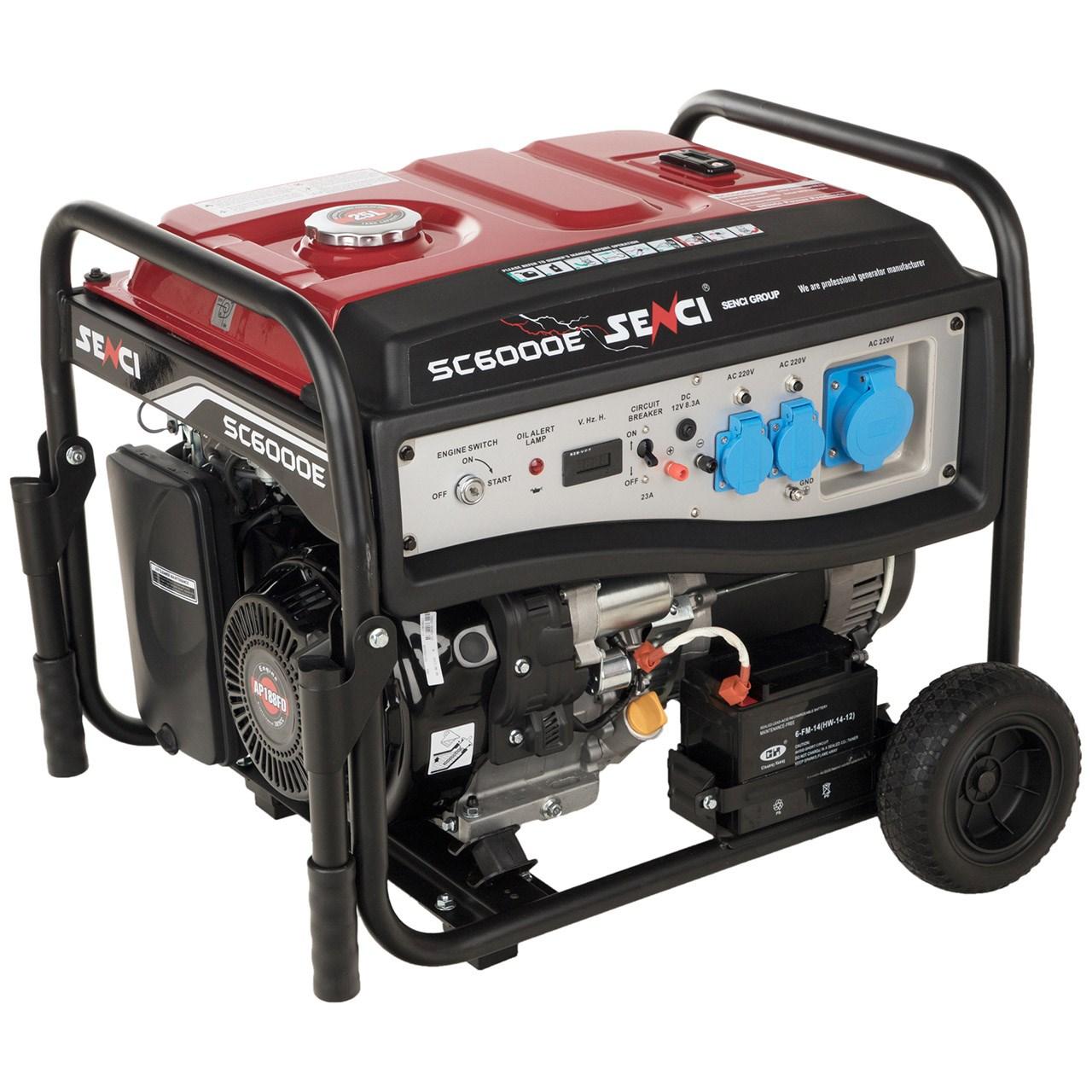 موتور برق بنزینی سنسی مدل SC6000E