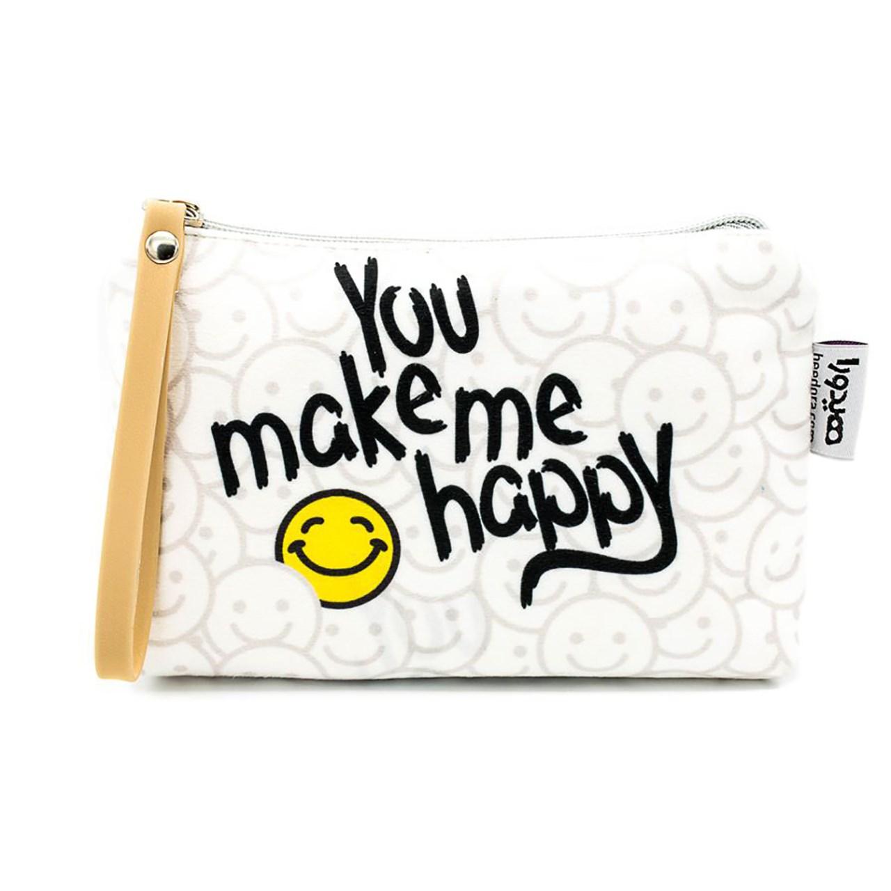 کیف لوازم آرایش هیدورا طرح You Make Me Happy