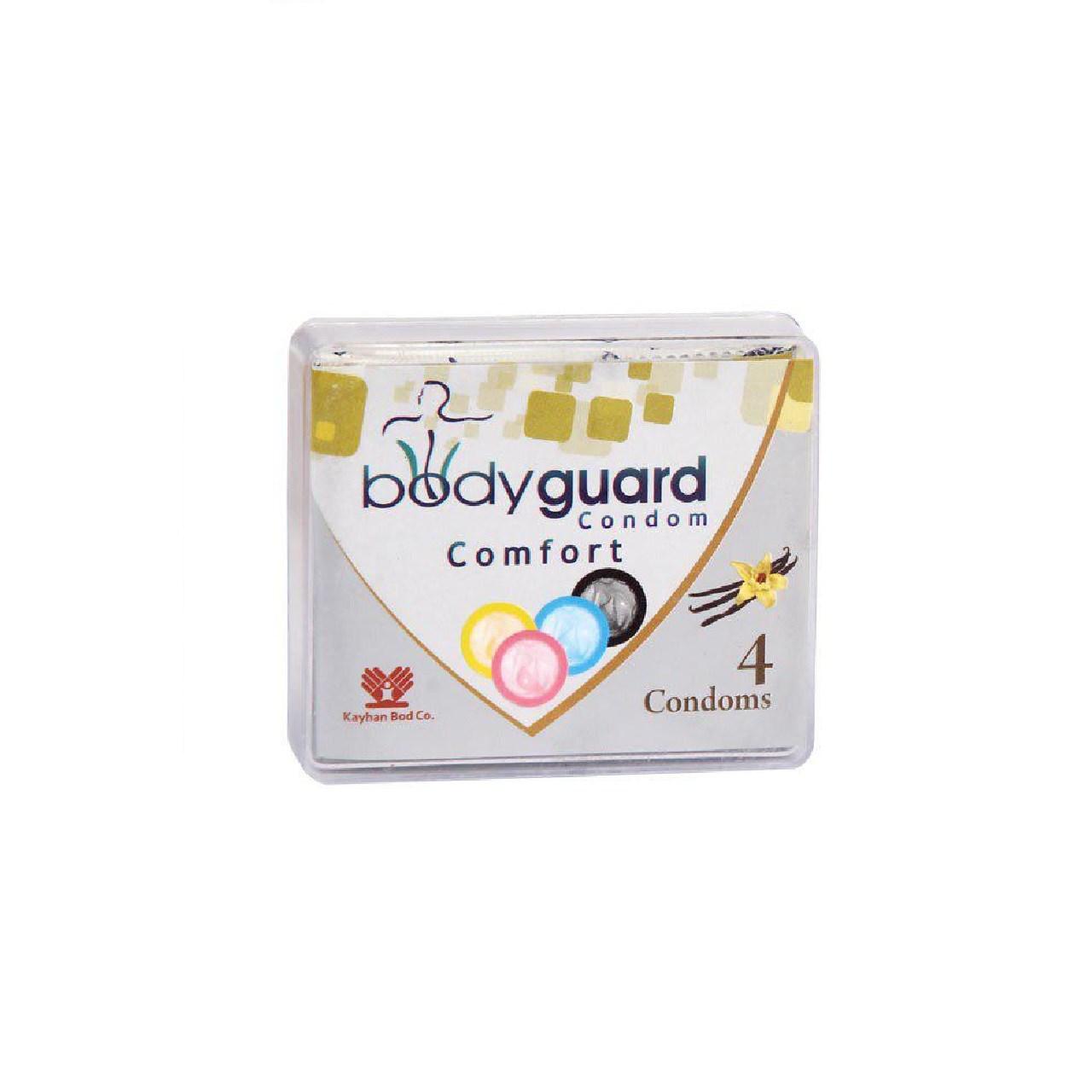 خرید                      کاندوم بادی گارد مدل کامفورت بسته 4 عددی