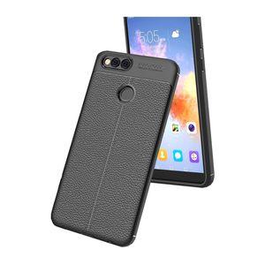 کاور ژله ای طرح چرم مناسب برای گوشی موبایل هوآوی 7X