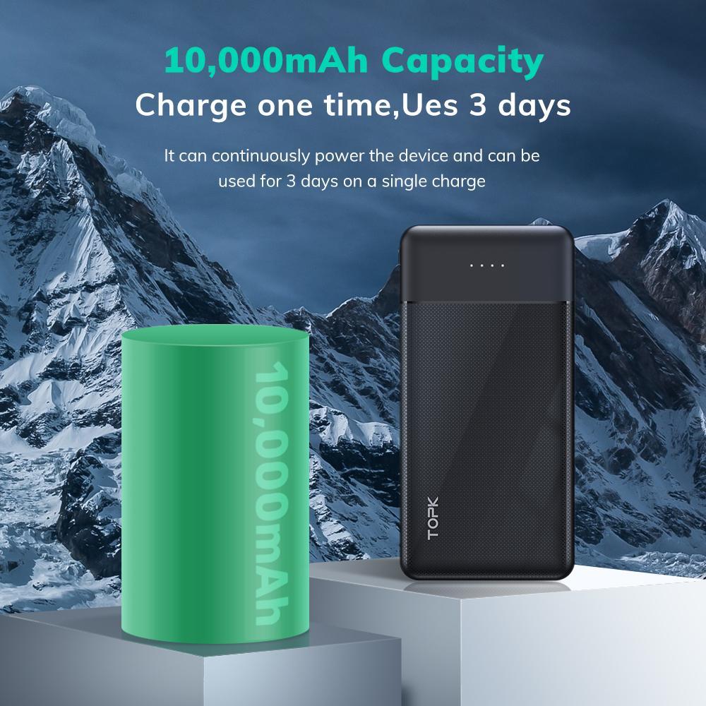 شارژر همراه تپک مدل 1014 ظرفیت 10000 میلی آمپر ساعت