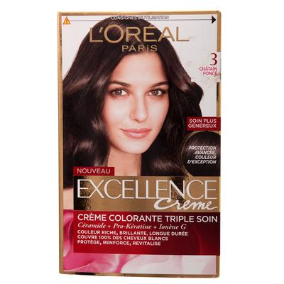 تصویر کیت رنگ مو لورآل شماره 3 Excellence